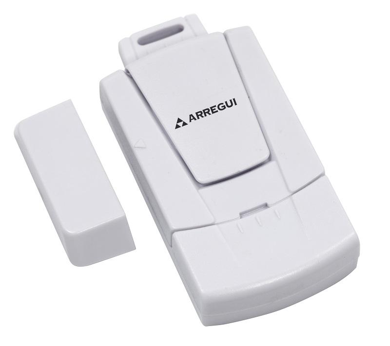 Alarma de seguridad para puertas y ventanas. Alarma con sensor magnético. Se activa cuando se abre la puerta o ventana