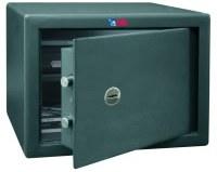 Caja fuerte de superficie BTV Modelo Decora 1030 - Cerradura Mecánica - Sólo llave. Seguridad standard, color gris grafito, con cerradura de gorjas.