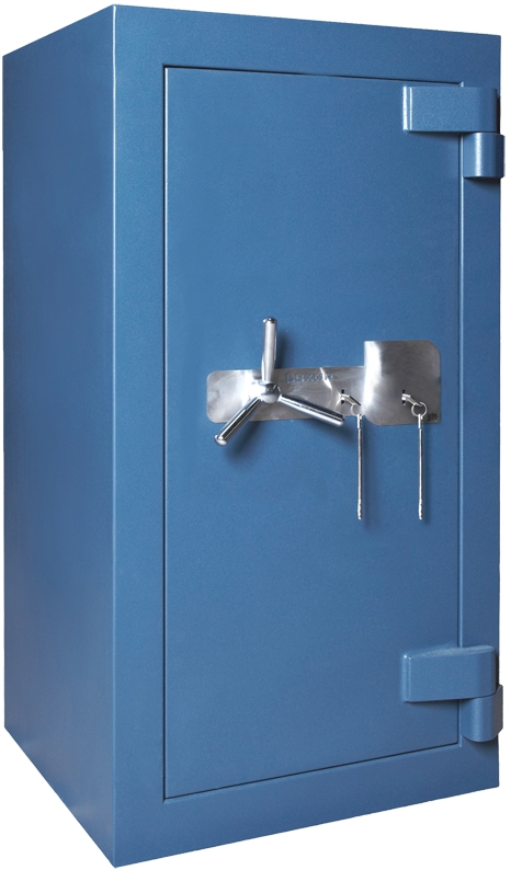Caja Fuerte Fábrica BTV Serie Luxor Modelo LUXOR 1100 BL - Color Azul grisáceo. Caja fuerte pesada de alta seguridad Grado IV. Certificada por AENOR.