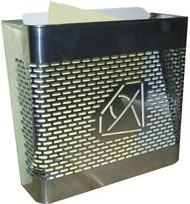 Cesta de publicidad modelo 333 (Btv) fabricado en acero inoxidable brillo, tamaño grande.