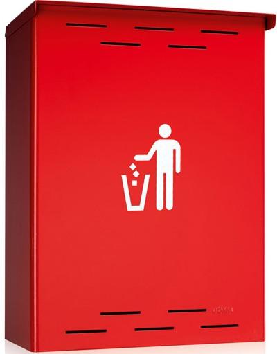 Sagastume Buzones - PAPELERA DE EXTERIOR (Disponible en 4 acabados) - Distribuidores nacionales de buzones, tablones de anuncios, cestas de publicidad, señalizaciones, papeleras,... dirigido a comunidades de propietarios y administradores de fincas.