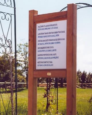 Sagastume Buzones - PANEL INFORMATIVO MODELO BASOA - Distribuidores nacionales de buzones, tablones de anuncios, cestas de publicidad, señalizaciones, papeleras,... dirigido a comunidades de propietarios y administradores de fincas.