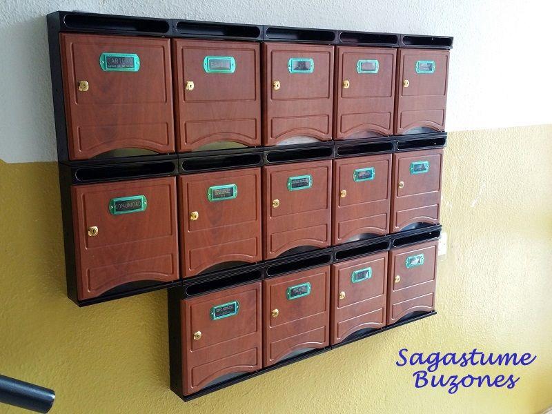 Sagastume Buzones - Buzón 1020-7  Puerta melamina Sapelly - Distribuidores nacionales de buzones, tablones de anuncios, cestas de publicidad, señalizaciones, papeleras,... dirigido a comunidades de propietarios y administradores de fincas.